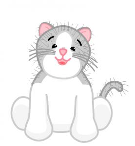 WEBKINZ Grey and White Cat CATS VENTURE